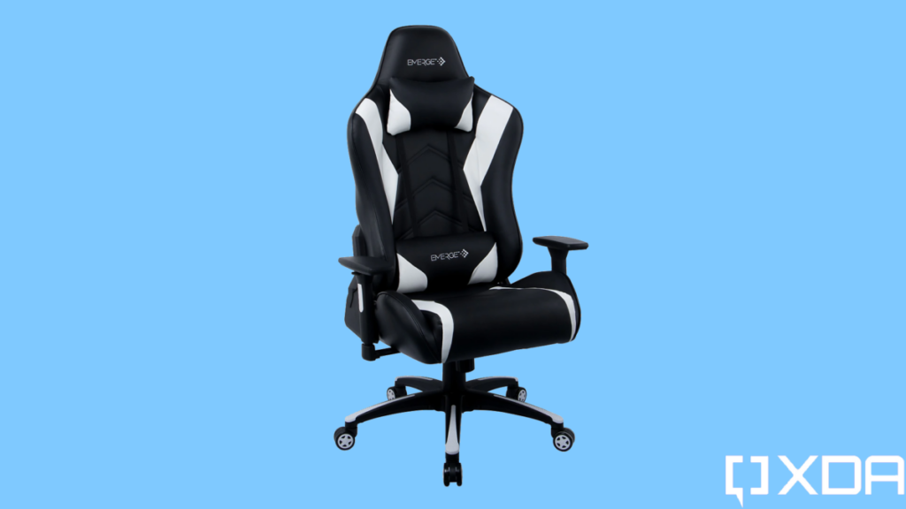 Grab the Emerge Vartan Gaming Chair for $150 and support your back for long hours at the computer